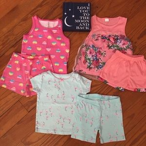 Girls 24 Month- 2T Summer Shorts Pajama Bundle